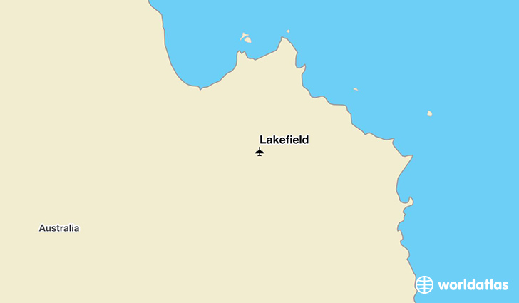 Lakefield location on a map