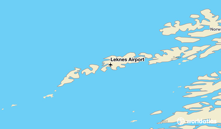 Leknes Airport location on a map