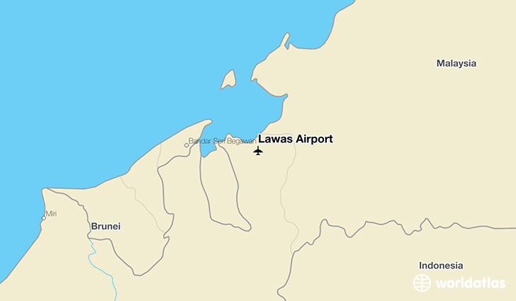 Lawas Airport location on a map