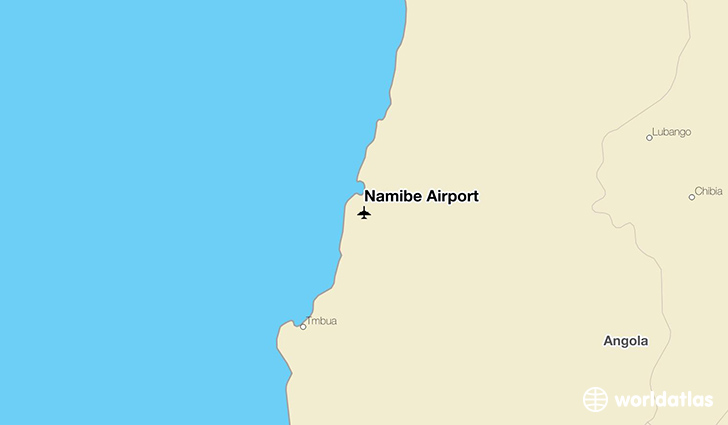 Namibe Airport location on a map