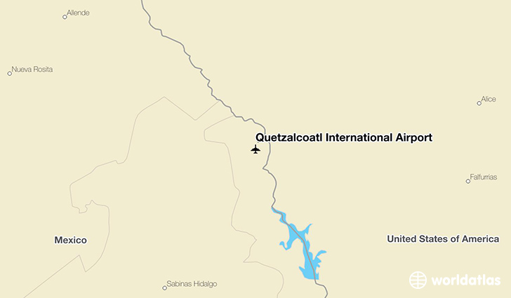 Quetzalcóatl International Airport location on a map