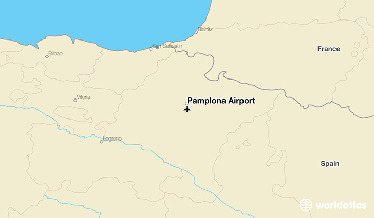 Pamplona Airport location on a map