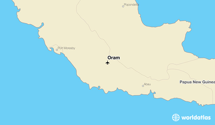 Oram location on a map
