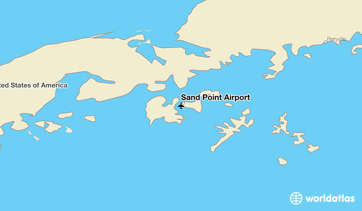 Sand Point Airport location on a map