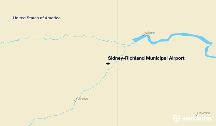 Sidney-Richland Municipal Airport location on a map