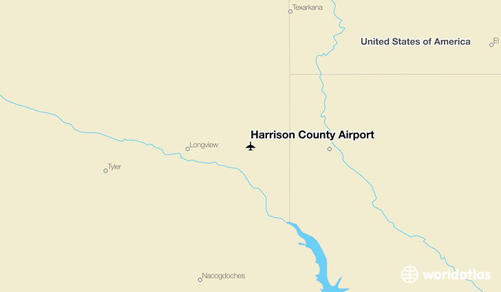 Harrison County Airport location on a map