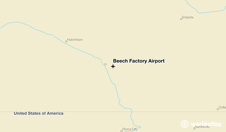 Beech Factory Airport location on a map