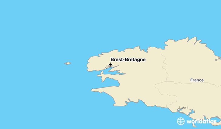 Brest-Bretagne location on a map