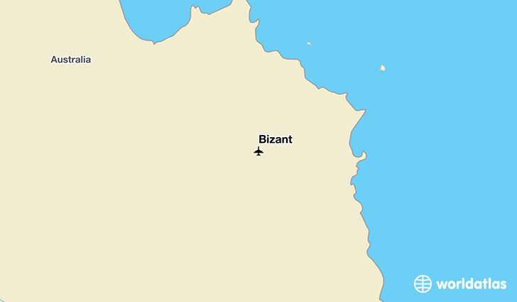 Bizant location on a map