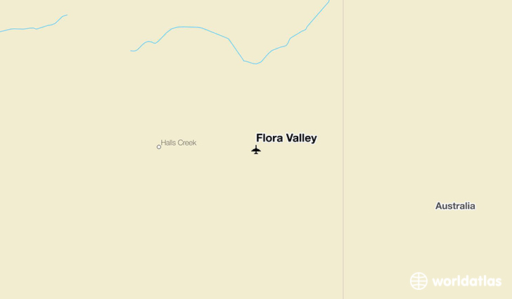 Flora Valley location on a map