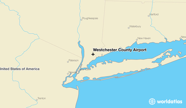 Westchester County Airport location on a map