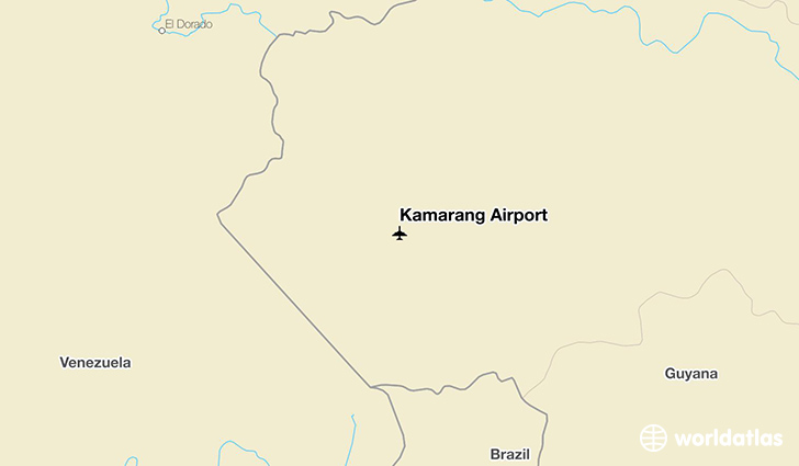 Kamarang Airport location on a map