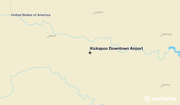 Kickapoo Downtown Airport location on a map