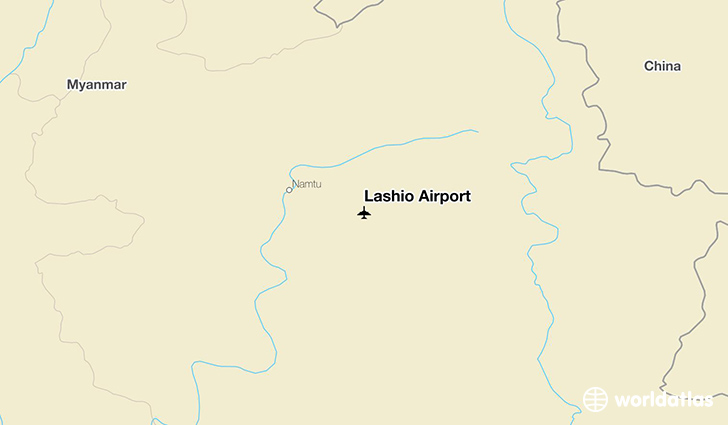 Lashio Airport location on a map