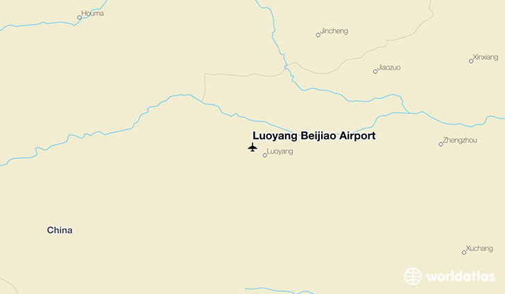 Luoyang Beijiao Airport location on a map