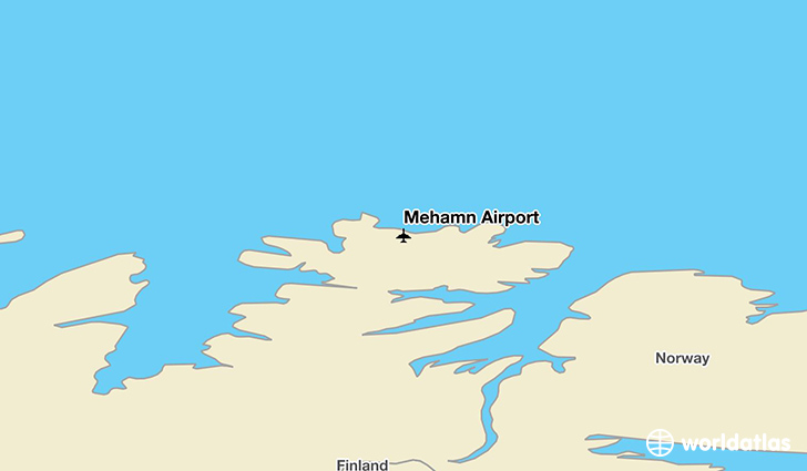Mehamn Airport location on a map