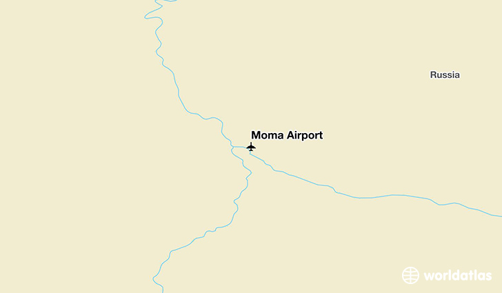 Moma Airport location on a map