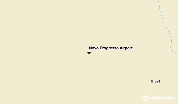 Novo Progresso Airport location on a map