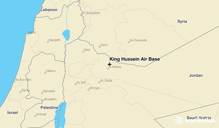 King Hussein Air Base location on a map
