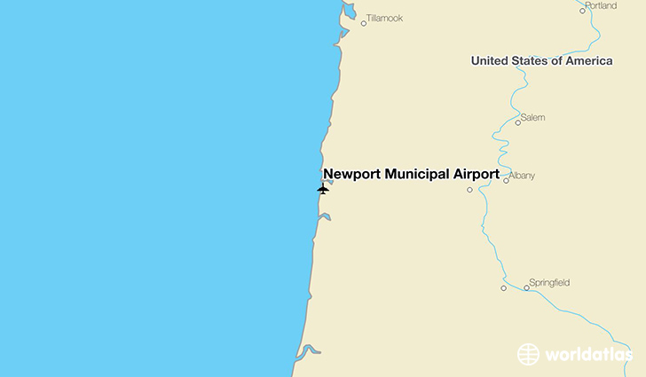 Newport Municipal Airport location on a map
