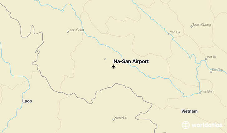 Na-San Airport location on a map
