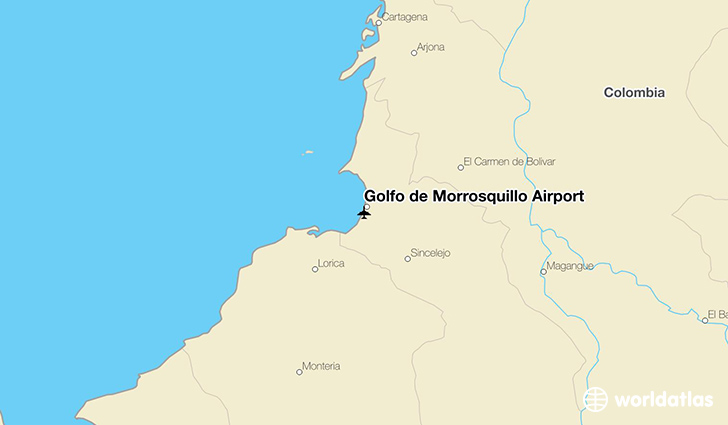 Golfo de Morrosquillo Airport location on a map