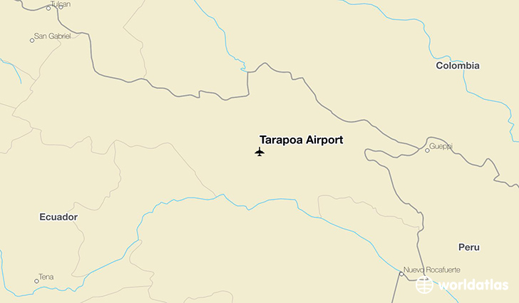 Tarapoa Airport location on a map