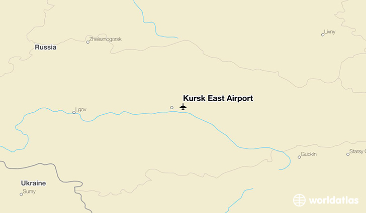 Kursk East Airport location on a map
