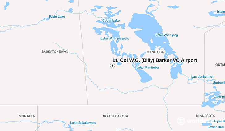 Lt. Col W.G. (Billy) Barker VC Airport location on a map
