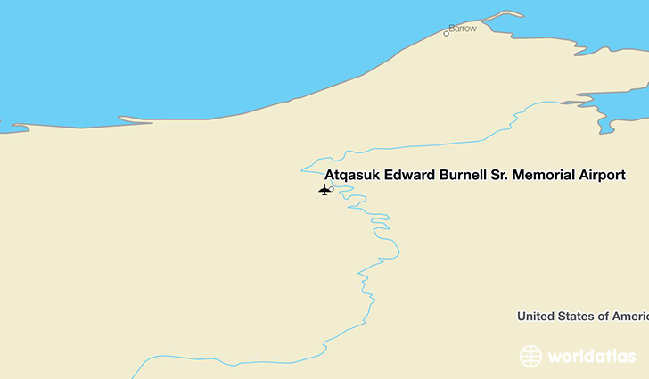 Atqasuk Edward Burnell Sr. Memorial Airport location on a map