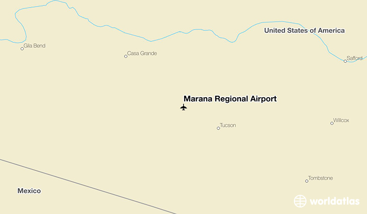 Marana Regional Airport location on a map
