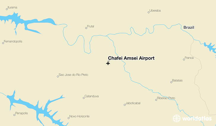 Chafei Amsei Airport location on a map