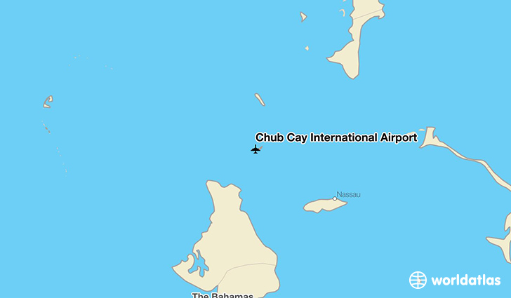 Chub Cay International Airport location on a map