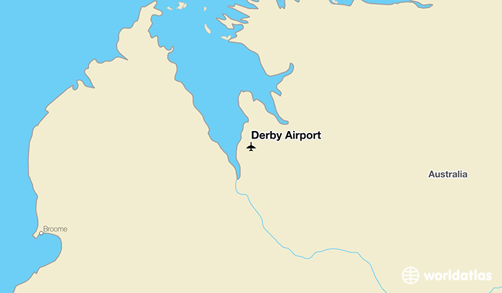 Derby Airport location on a map