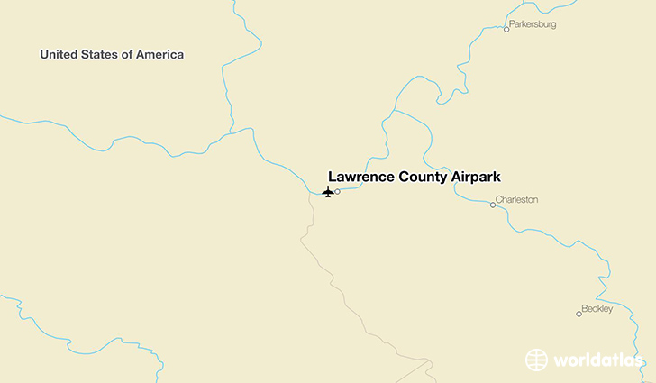 Lawrence County Airpark location on a map