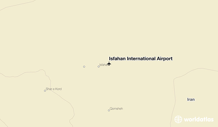 Isfahan International Airport location on a map