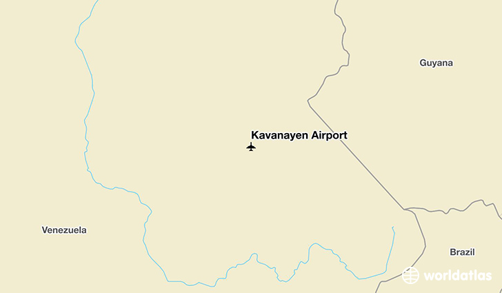 Kavanayen Airport location on a map
