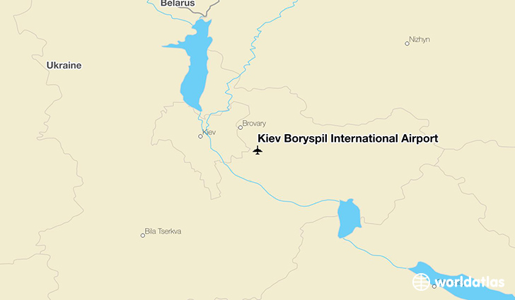 Kiev Boryspil International Airport location on a map