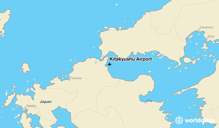 Kitakyushu Airport location on a map