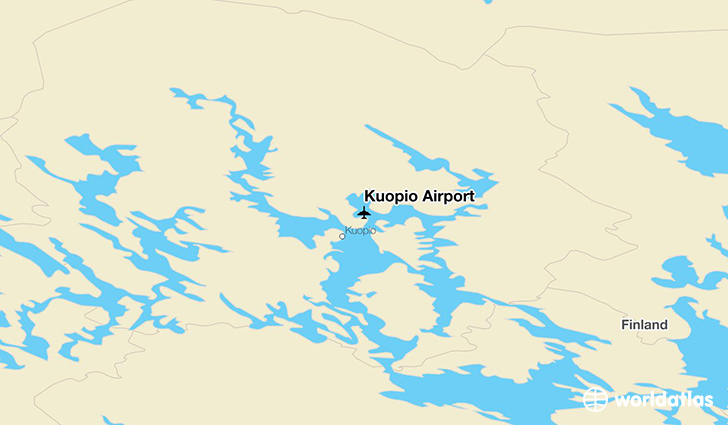 Kuopio Airport location on a map