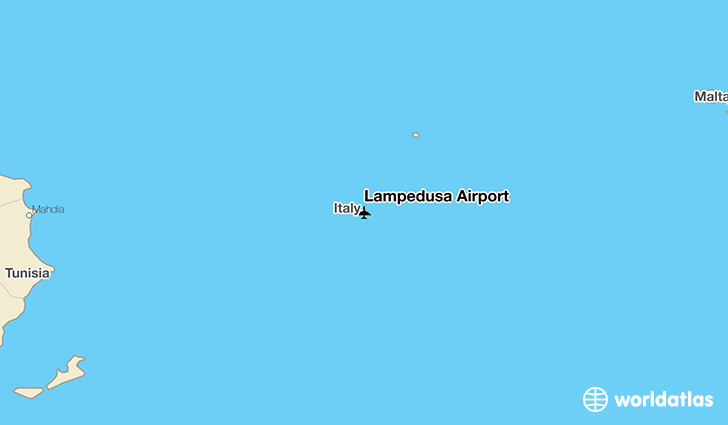 Lampedusa Airport location on a map