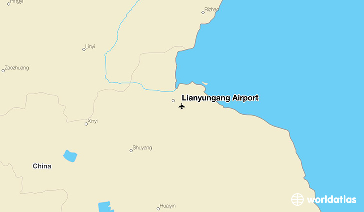 Lianyungang Airport location on a map