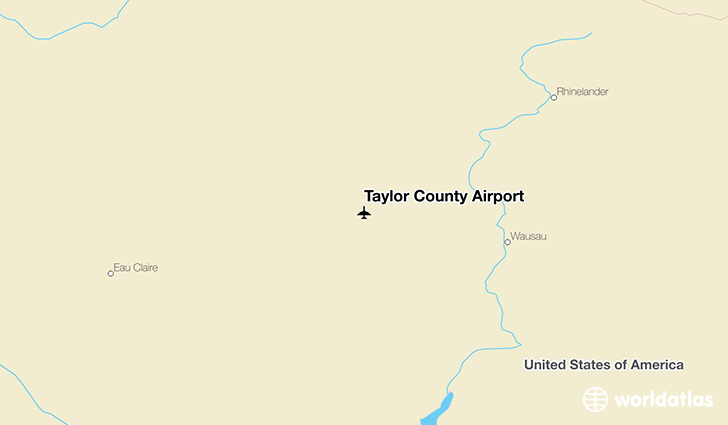 Taylor County Airport location on a map