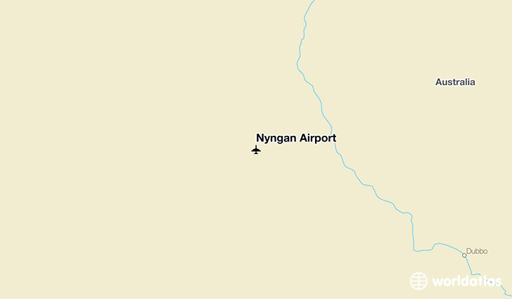 Nyngan Airport location on a map