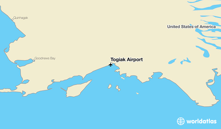 Togiak Airport location on a map