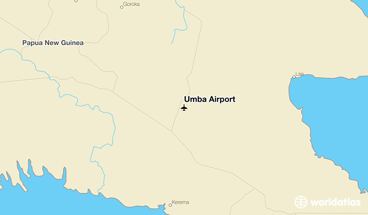 Umba Airport location on a map