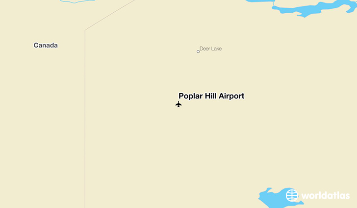 Poplar Hill Airport location on a map