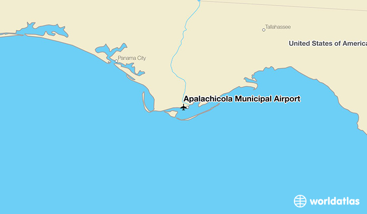 Apalachicola Municipal Airport location on a map