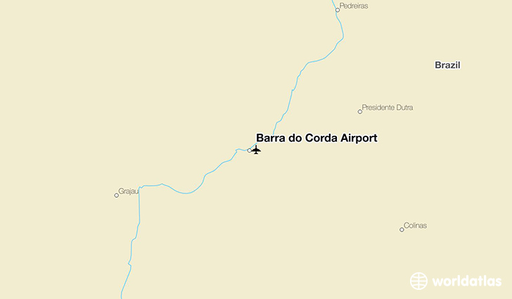 Barra do Corda Airport location on a map