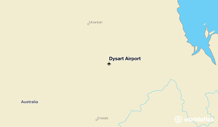 Dysart Airport location on a map